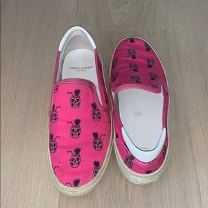 Women's Saint Laurent slip on sneakers. Size 38